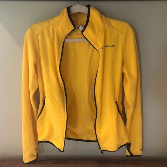 96a3a6a29496 Yellow Nike Livestrong Fleece Jacket. M 5b4d1f69c617775caea22abe